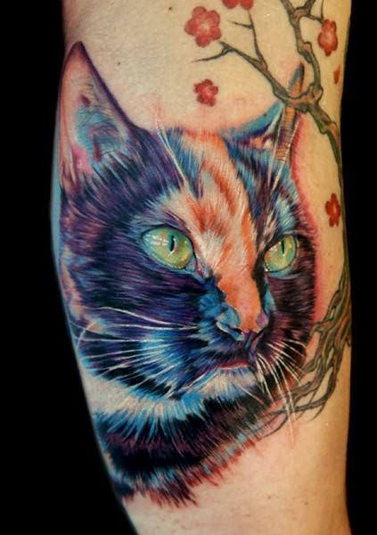 Cat tattoo designs guard the skin you re in tattoo for Cat eyes tattoo designs