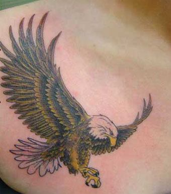 Eagle tattoos are popular in Northern countries as a symbol of masculine strength, courage and the freedom of flight
