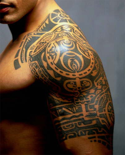 Samoan Chest Tattoos