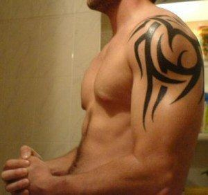 Tribal tattoo designs are popular with male athletes and mixed martial arts fighters
