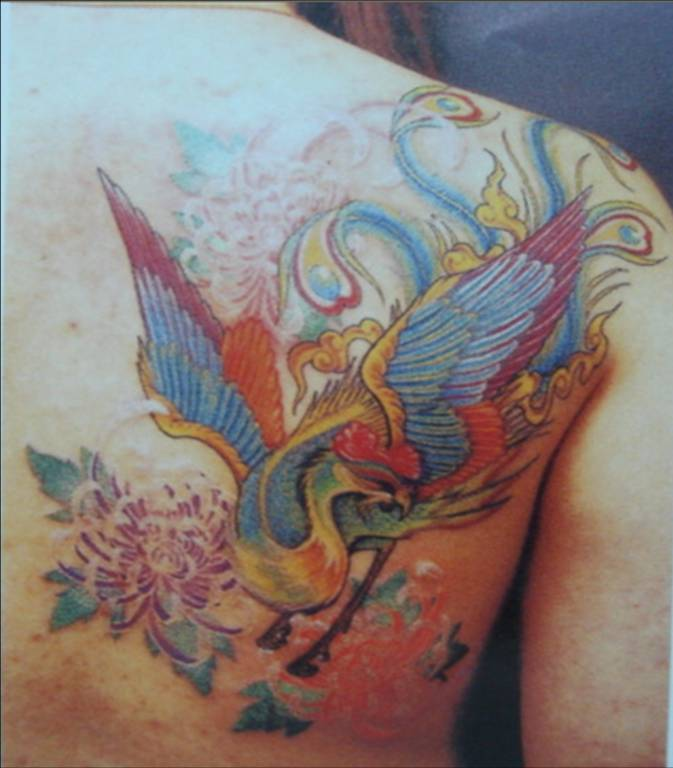Asian pheasant tattoo art