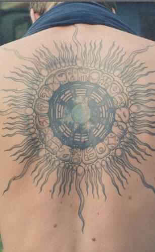 an example of a mayan tzolkin tattoo design ratta tattoo. Black Bedroom Furniture Sets. Home Design Ideas