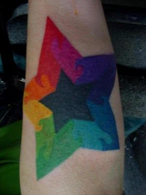 rainbow star tattoo design symbol of heaven god and religion special celebrity