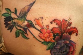 Hummingbird Tattoos are Fast Fliers on Skin