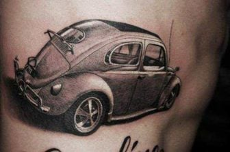 Car Tattoos Symbolize Speedsters on Skin