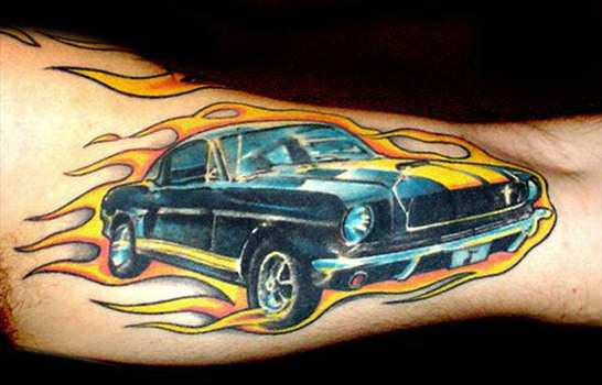 This Car Tattoo Celebrates The 1960s Chevrolet Camaro With Racing