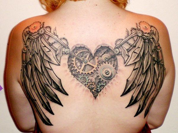 This steampunk mechanical heart with robotic wings is an example of pre-existing ideas expressed as Victorian fantasy