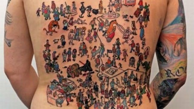 Tattoo Articles: Where's Waldo? He's Somewhere On Skin, Hiding In Tattoos