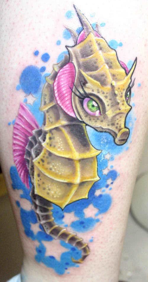 Horse Jaw Tattoo: The Sweetest Sea Horse Tattoos