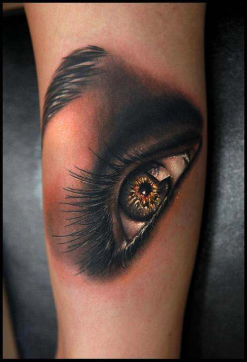 Realistic Eye Tattoo