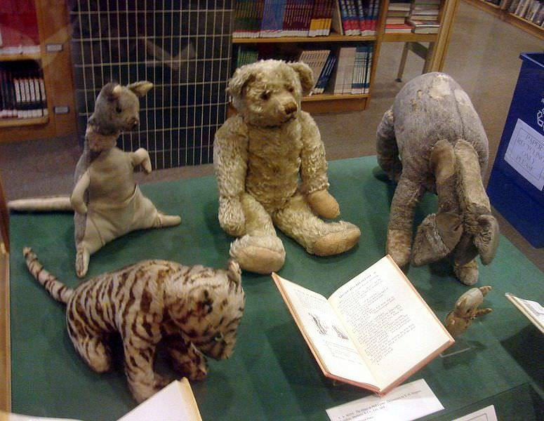 The original soft toys owned by Christopher Robin that were the inspiration for Winnie the Pooh