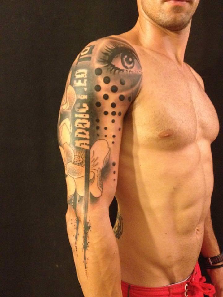 Various design elements seem randomly placed in this Pietro Romano tattoo design