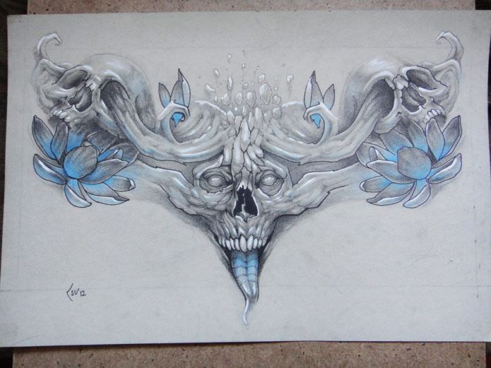 Xenija s tattoo sketches promise to become amazing body for Symbols of death tattoos