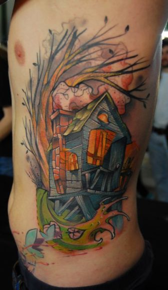 Jukan Tattoos Abstract Watercolor Awesomeness