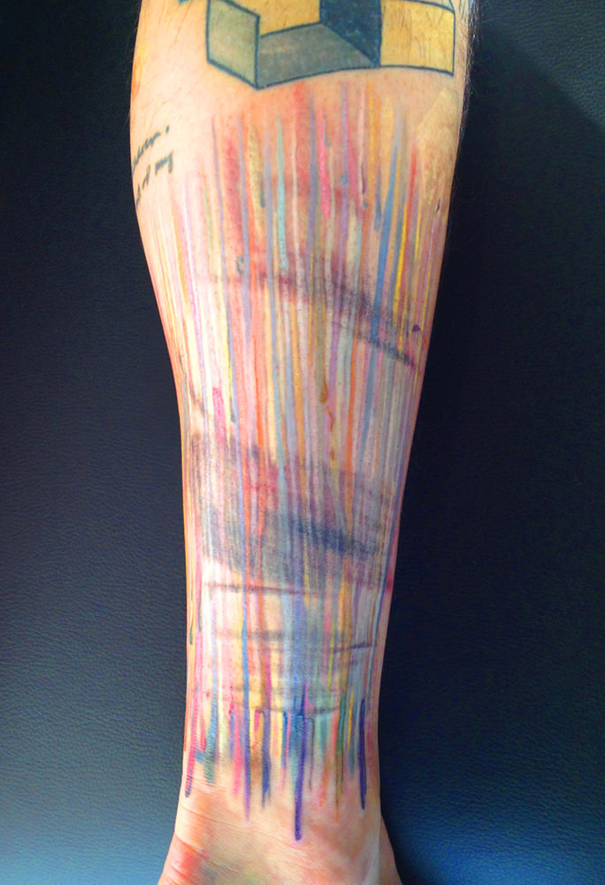 Colorful Sktechy Lines Look Drawn Onto Skin In This
