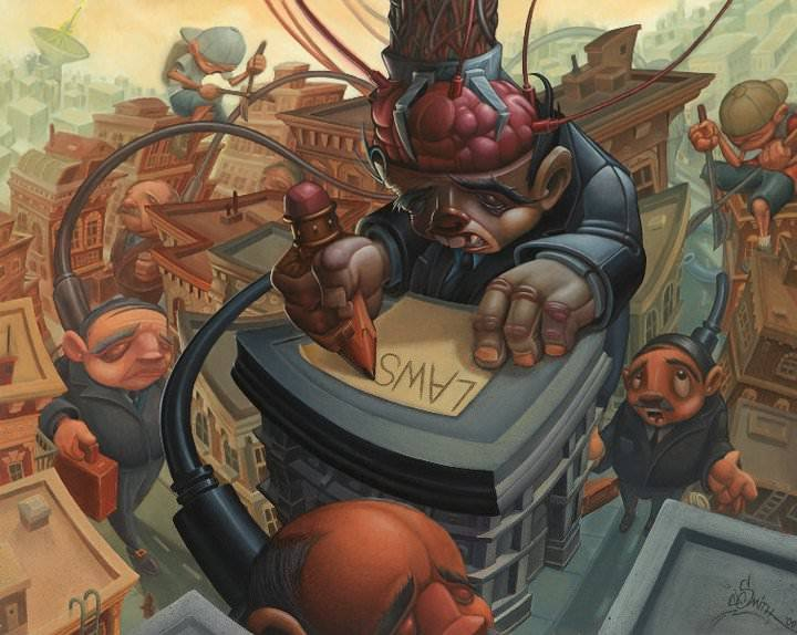 Tattoo artist jesse smith paints his opinion of the for Tattoo artist school