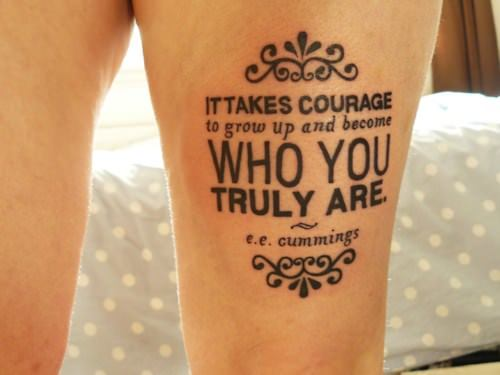 courage quotes tattoos - photo #6