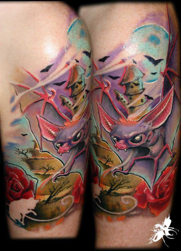 New school and pop surrealism tattoos by g bor jelo for New school tattoo artists