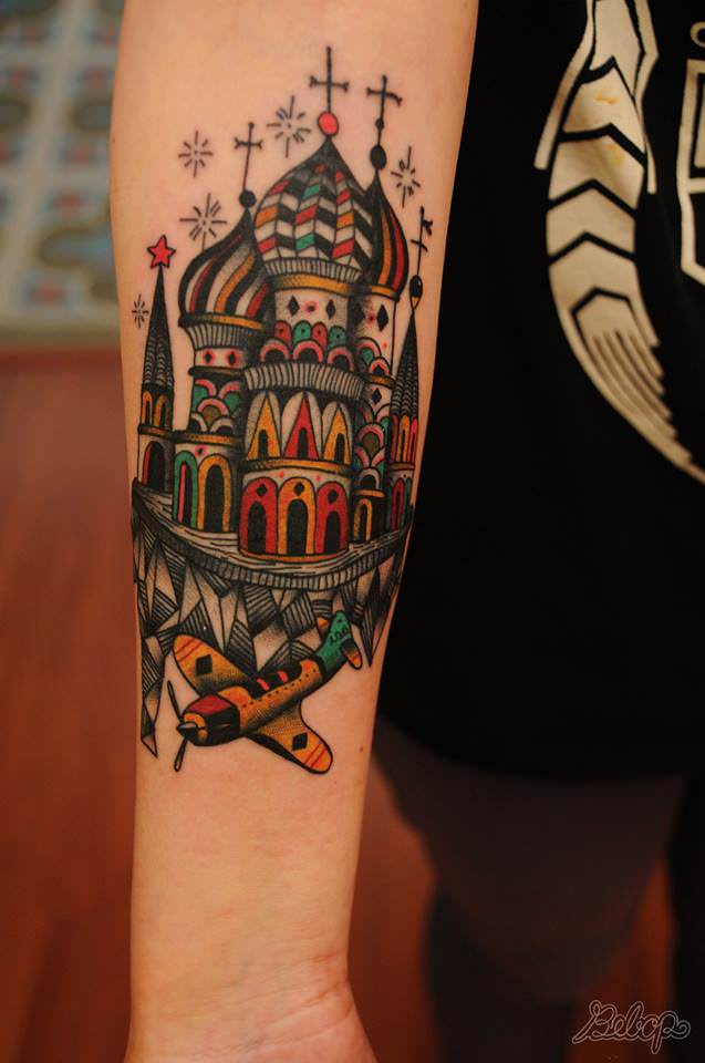 tattoo artist karolina bebop reflects the world in