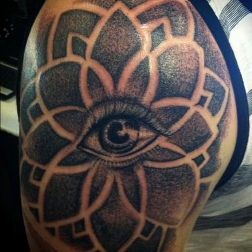 35 Spiritual Mandala Tattoo Designs: Tattoo Artist Dillon Forte Has Used A Human Eye At The