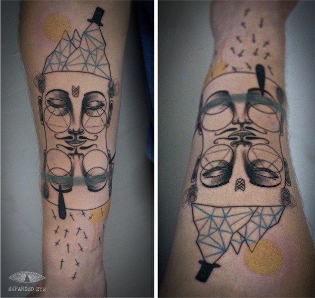 Expanded eye tattoo creates an abstract tattoo with for Eye tattoo art