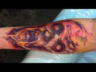 Watch a Zombie Emerge from Living Human Flesh in this Tattoo Video
