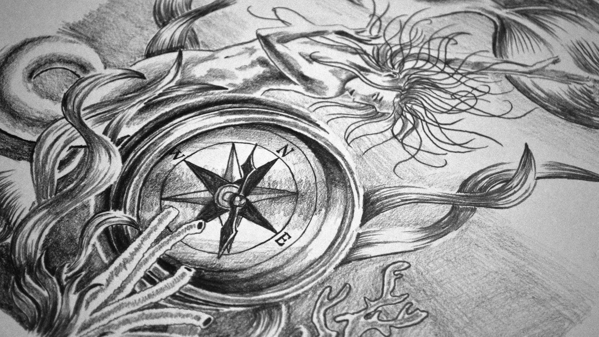 Line Art Tattoo Designs : Watch this artist speed draw a pirate tattoo design «