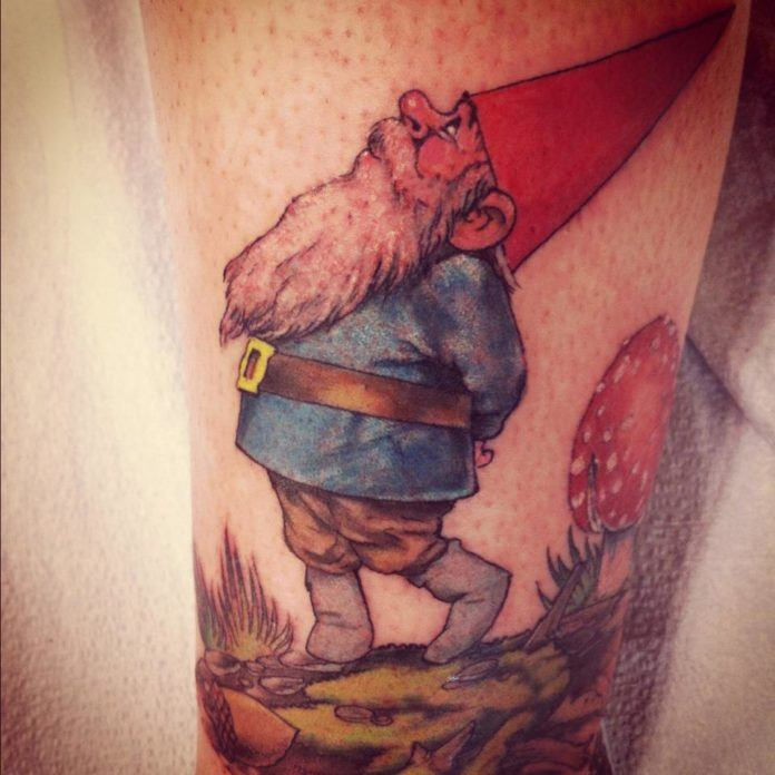 Children of the 80s are choosing to have gnomes tattooed on their skin to always have a gnome close to them